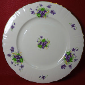 SYRACUSE china VIOLETS pattern Dinner Plate - 10-1/2""