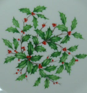 LENOX china HOLIDAY L5 pattern Holly & Berries Special Mark Luncheon Plate 9-1/4