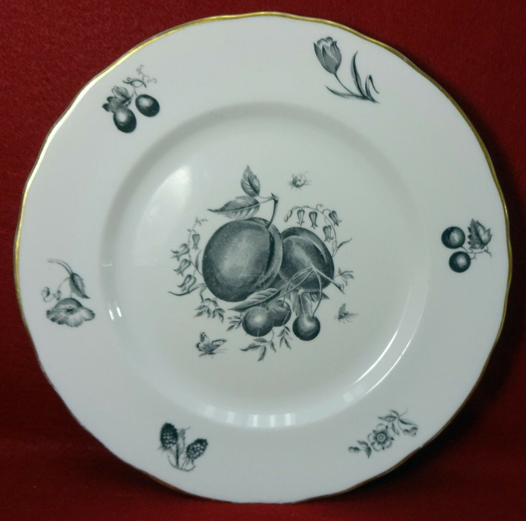 ROYAL WORCESTER china DELECTA BLACK Z2263 pattern Dinner Plate - 10-5/8