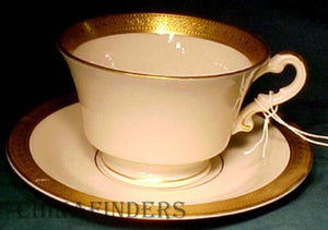 "SYRACUSE china BRACELET pattern CUP & SAUCER Set 2-3/8"" Virginia Cup"