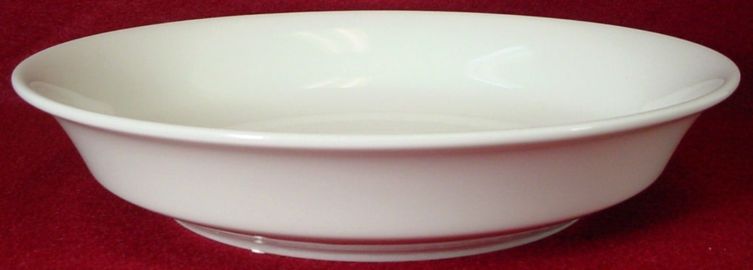 OXFORD (Lenox) china MAYFAIR WHITE pattern COUPE SOUP or SALAD BOWL 7-5/8