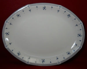 Royal Doulton china CALICO BLUE pattern Large Oval Serving Platter - 16-1/4""