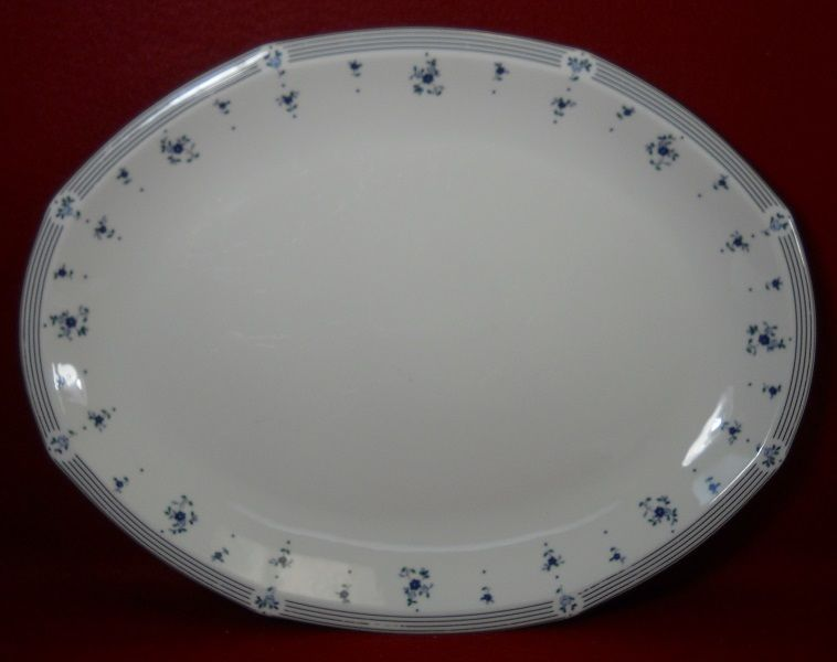 Royal Doulton china CALICO BLUE pattern Large Oval Serving Platter - 16-1/4
