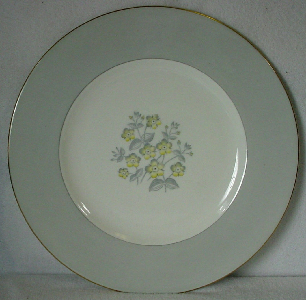 WEDGWOOD china GREY FRIAR YELLOW W3958 pattern DINNER PLATE 10-3/4