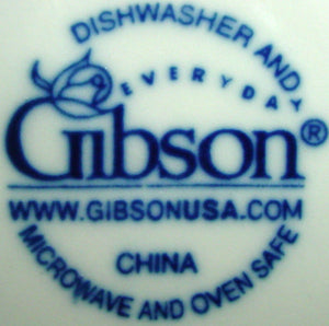 GIBSON DESIGNS china SARASOTA pattern CUP & SAUCER Set Cup 3""