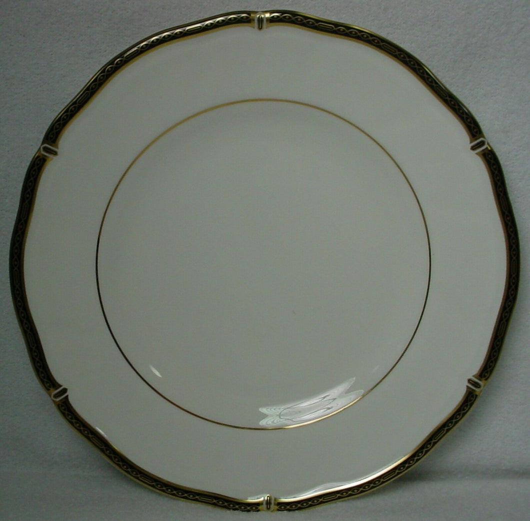 WEDGWOOD china WINDSOR BLACK pattern SALAD PLATE 8