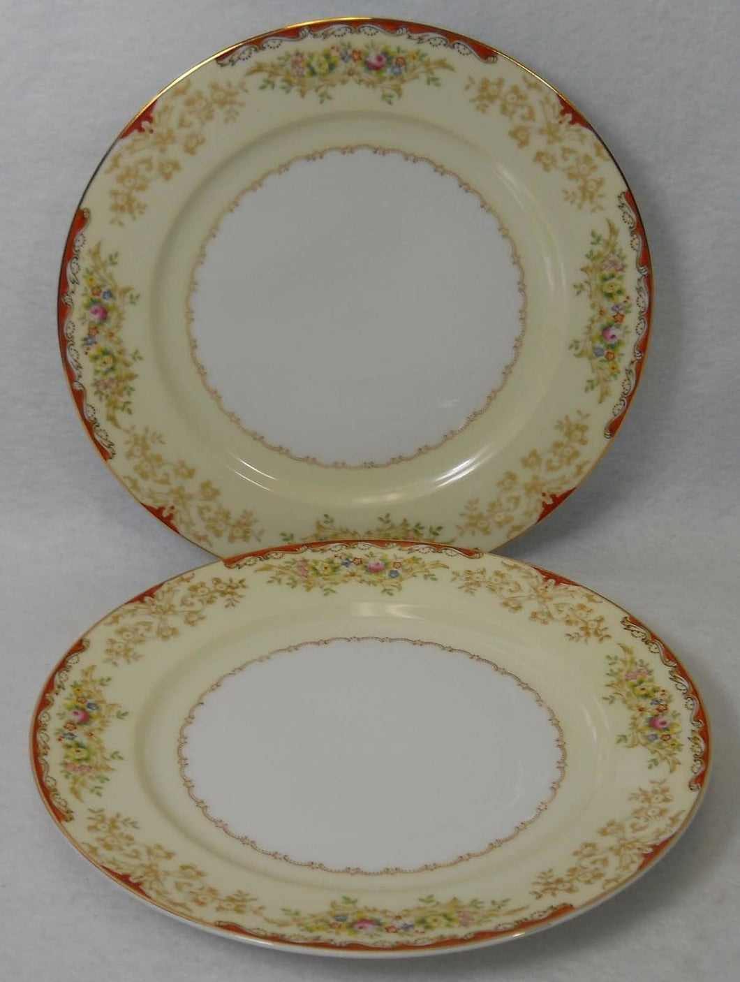 ROYAL EMBASSY china RENO pattern Salad Dessert Plate - Set of Two (2) - 7-3/4