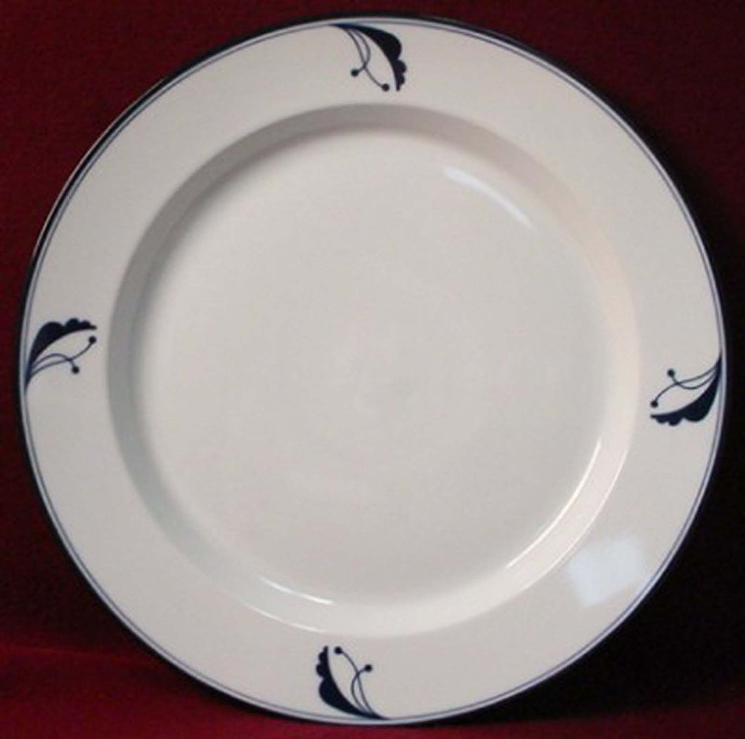 DANSK china BAYBERRY BLUE pattern Japan CHOP PLATE Round Platter 13-1/4