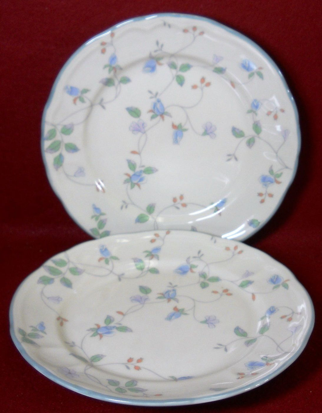 EPOCH (Noritake) china HAVERHILL E525 Two (2) Salad or Dessert Plates - 7-3/4