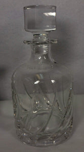 DA VINCI crystal PISTOIA pattern Decanter & Stopper - 8-3/4""
