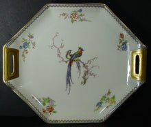 "HAVILAND china PARADISE Schleiger 1219 France HANDLED CAKE PLATE 11"" x 9-1/4"""