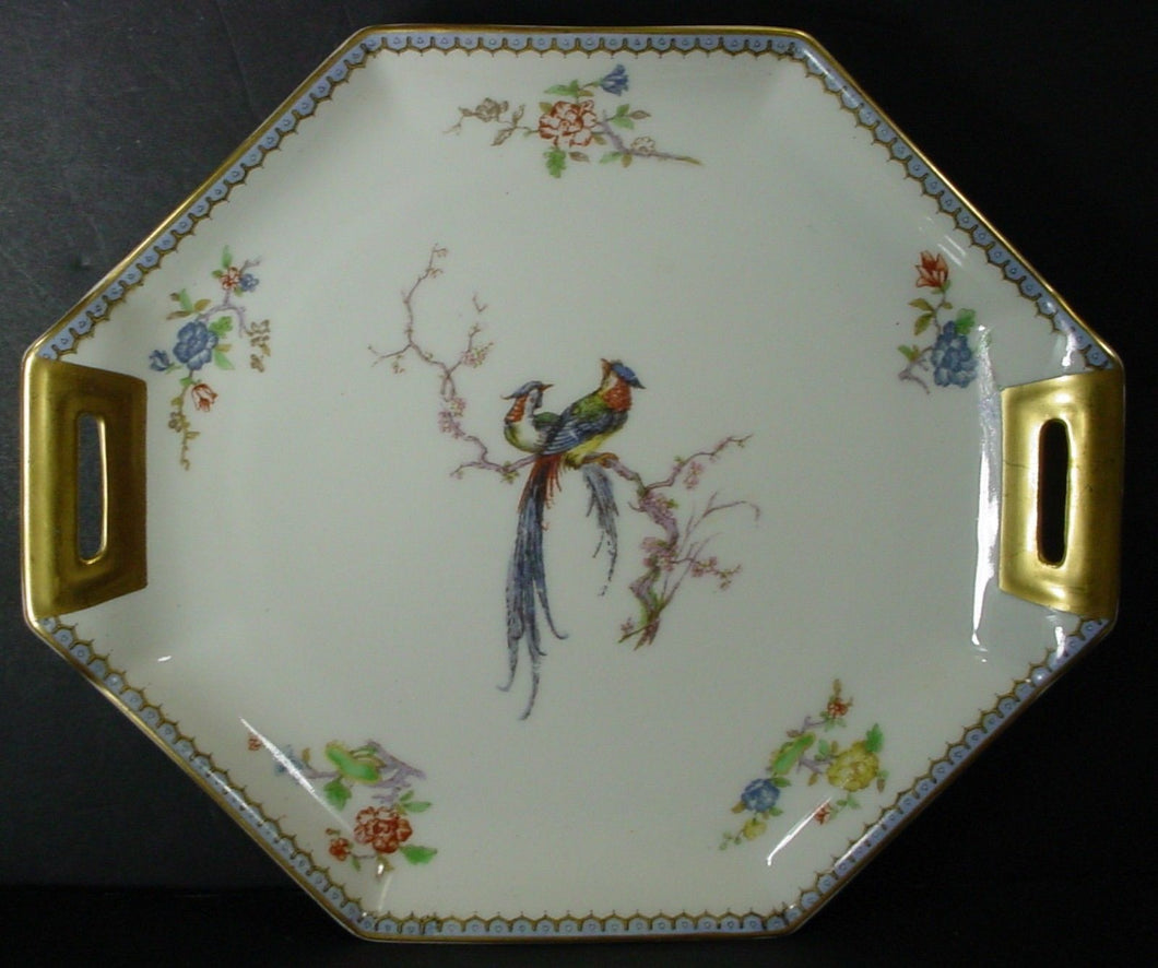 HAVILAND china PARADISE Schleiger 1219 France HANDLED CAKE PLATE 11