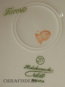 HUTSCHENREUTHER china HUT1124/HUT672 pattern Set of Seven (7) Coupe Salad Plates