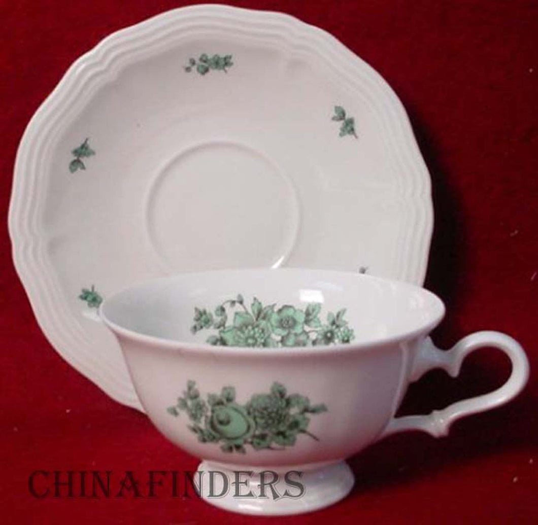 ROSENTHAL china GREENBRIAR no trim CUP & SAUCER Set