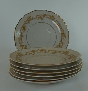 FRANCONIA-KRAUTHEIM china FR23 pattern Set of Seven (7) Saucers