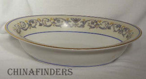 AHRENFELDT china SUZANNE pattern Oval Vegetable Serving Bowl @ 9-1/8""