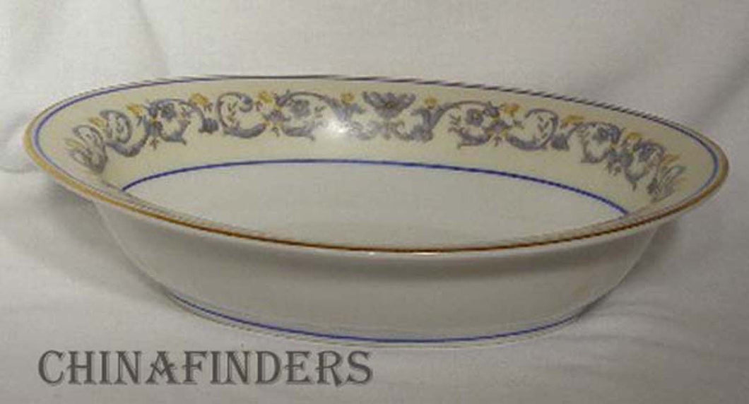 AHRENFELDT china SUZANNE pattern Oval Vegetable Serving Bowl @ 9-1/8