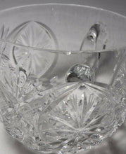 14-piece CUT GLASS Crystal PUNCH BOWL with 13 Punch Cups