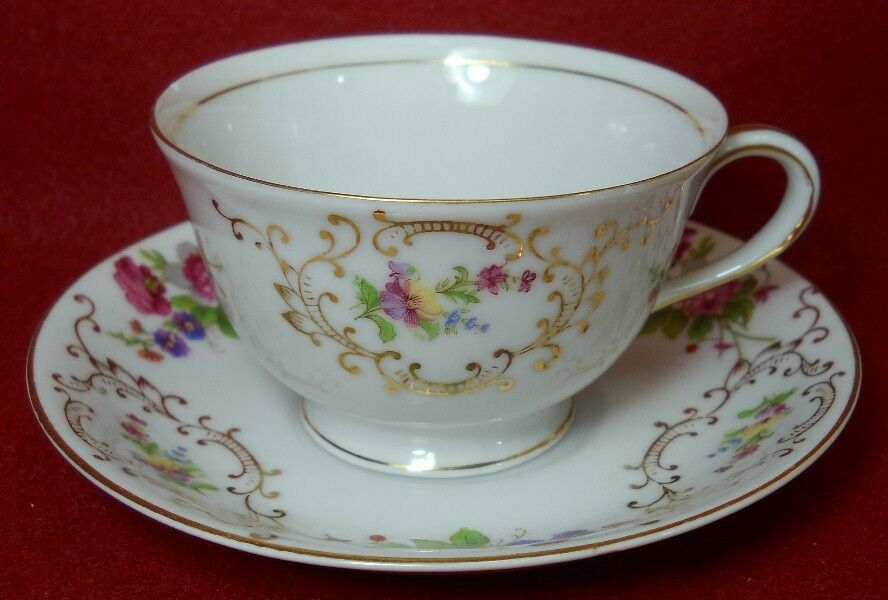 ADLINE china DRESDEN ROSE pattern ADL6 Cup & Saucer Set - 2-1/4