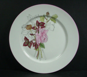 BLOCK china WESTERN ROSE pattern Salad Plate @ 7 7/8""