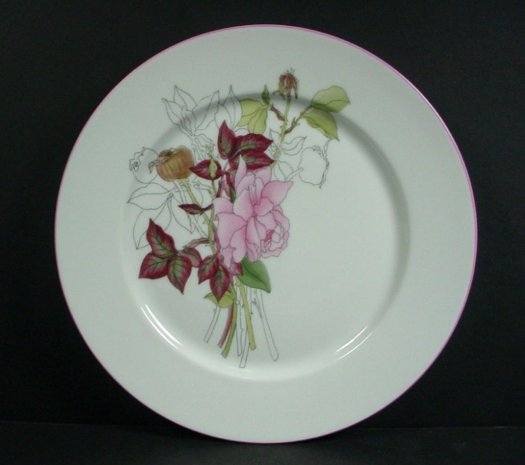BLOCK china WESTERN ROSE pattern Salad Plate @ 7 7/8