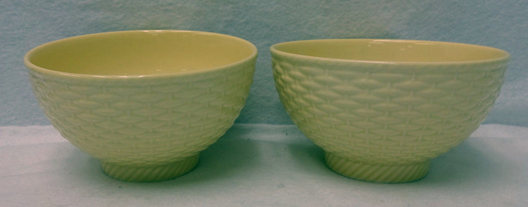 MIKASA china COUNTRY MANOR SAFFRON Two (2) Cereal or Dessert Bowls - 5-1/2