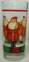 BLOCK/GEAR china FATHER CHRISTMAS pattern Set of Four 14oz Glassware Tumblers