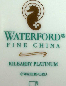 "WATERFORD china KILBARRY PLATINUM pattern CUP & SAUCER Set 3"" Cup"