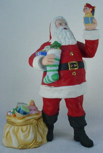 LENOX figurine INTERNATIONAL SANTA COLLECTION 1990 AMERICAN SANTA