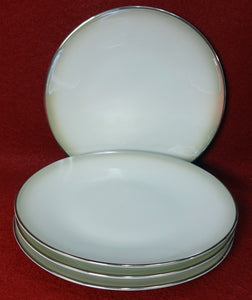 "ROSENTHAL china Pattern 3470 ""SHADOW EDGE"" Bread Plate - Set of Four (4) - 6"""