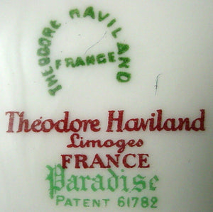 HAVILAND china PARADISE Schleiger 1219 France COVERED VEGETABLE Serving BOWL