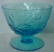 SENECA crystal DRIFTWOOD Peacock Blue SHERBET CHAMPAGNE - Set of Four (4) @ 3""