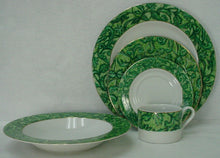 AMERICAN ATELIER china A CAPELLA acappella GREEN pattern 5-piece PLACE SETTING