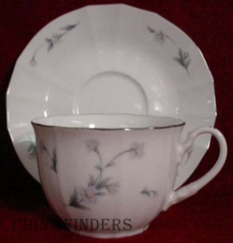 NORITAKE china QUENTIN 3202 2 Cup & Saucer Sets