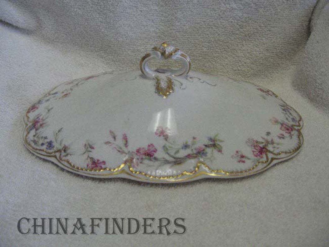 HAVILAND China Schleiger # 32F Oval Vegetable Bowl LID