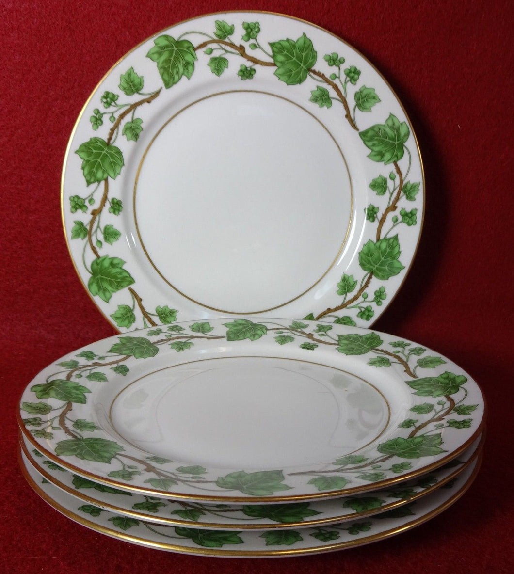 ROYAL JACKSON china EMERALD IVY pattern Bread Plate - Set of Four (4) - 6-1/4