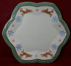 PFALTZGRAFF china NORDIC CHRISTMAS pattern 2-piece Chip & Dip Set - 16""