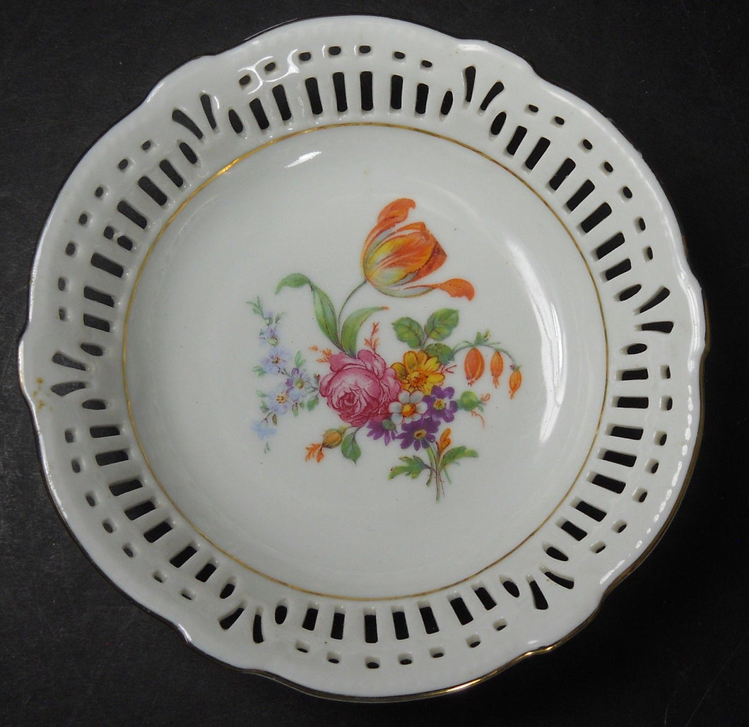SCHWARZENHAMMER china SWH4 DRESDEN FLOWERS Fruit Dessert Berry Bowl #1 @ 5-1/2
