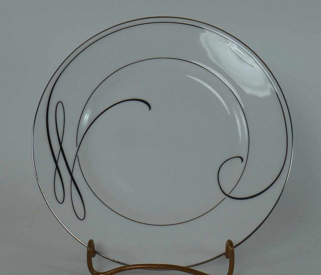 WATERFORD china BALLET RIBBON (platinum) pattern Bread Plate @ 6
