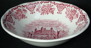 ENOCH WEDGWOOD china ROYAL HOMES OF BRITAIN pink COUPE CEREAL BOWL 6-3/8""