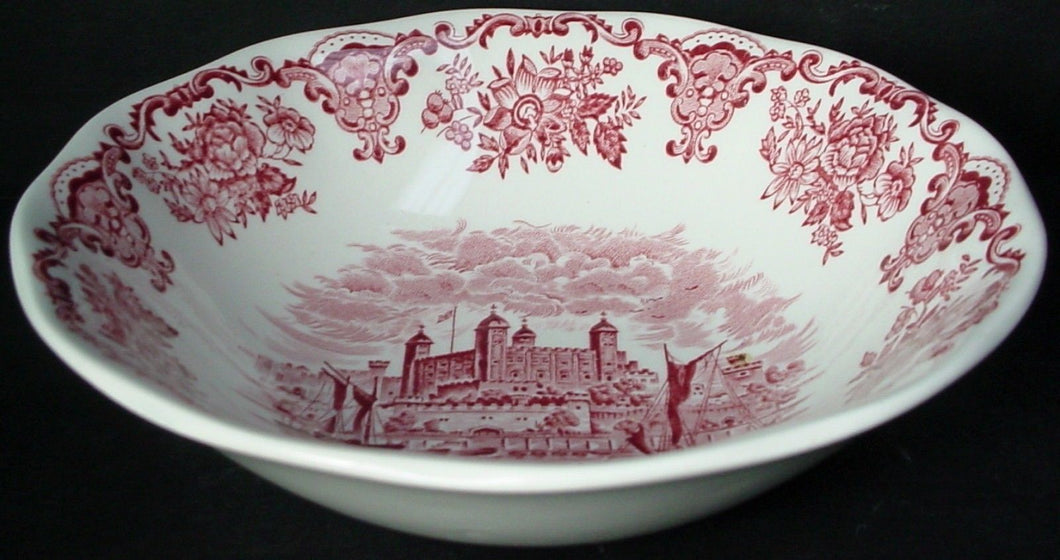 ENOCH WEDGWOOD china ROYAL HOMES OF BRITAIN pink COUPE CEREAL BOWL 6-3/8