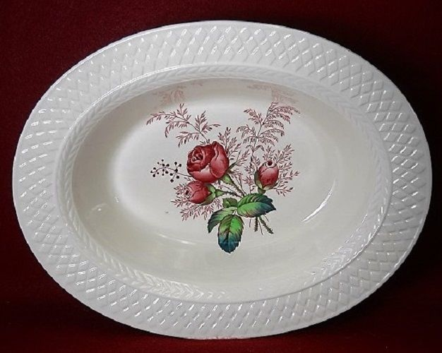 SPODE china LADY ANNE pattern Oval Vegetable Serving Bowl - 10-3/8