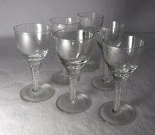 BOHEMIA crystal BELAIRE pattern Set of 6 CORDIAL GLASSES or GOBLETS - 3-7/8""