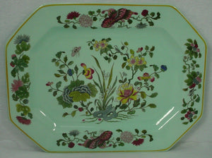 "ADAMS (Wedgwood) china MING JADE pattern OVAL MEAT Serving PLATTER 16 1/2"" craze"