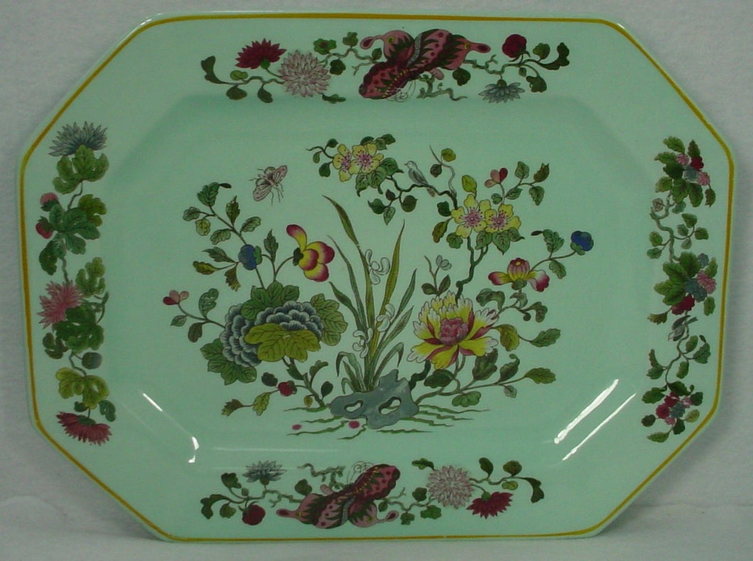 ADAMS (Wedgwood) china MING JADE pattern OVAL MEAT Serving PLATTER 16 1/2