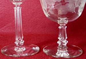 LIBBEY crystal CRYSTAL GARLAND 3002 pattern WATER GOBLET set of FOUR (4)