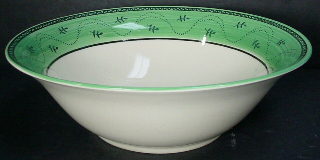 SANGO china PROVENCE GREEN 6130 pattern ROUND VEGETABLE Serving BOWL 9-5/8