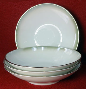 "ROSENTHAL china 3470 ""SHADOW EDGE"" Fruit Berry Bowl - Set of Four (4) - 5-1/4"""