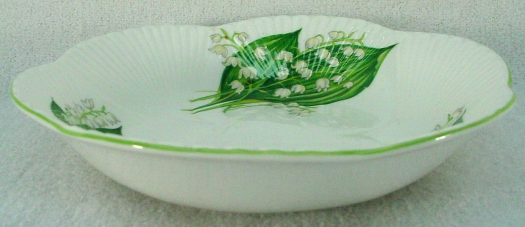 SHELLEY china LILY OF THE VALLEY 13822 Dainty CEREAL BOWL 6-1/4