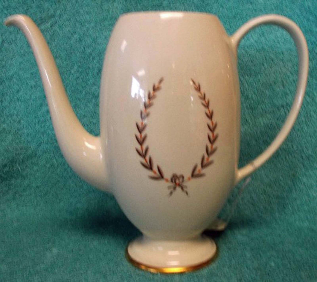 FRANCISCAN china MOUNTAIN LAUREL pattern COFFEE POT BASE ONLY